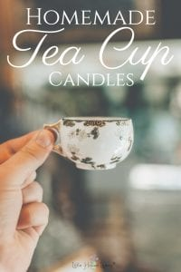 Homemade Tea Cup Candles