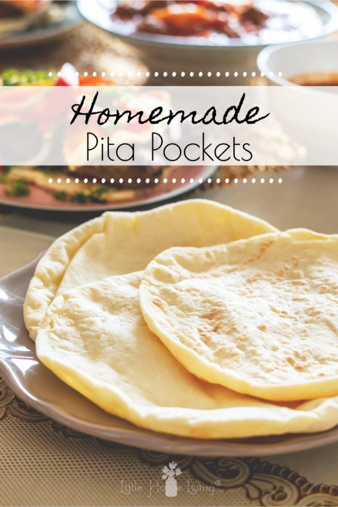 This Homemade Pita Pockets recipe is so easy that you are going to want to make them all of the time! #pitapockets Pitarecipe #homemadepitabread