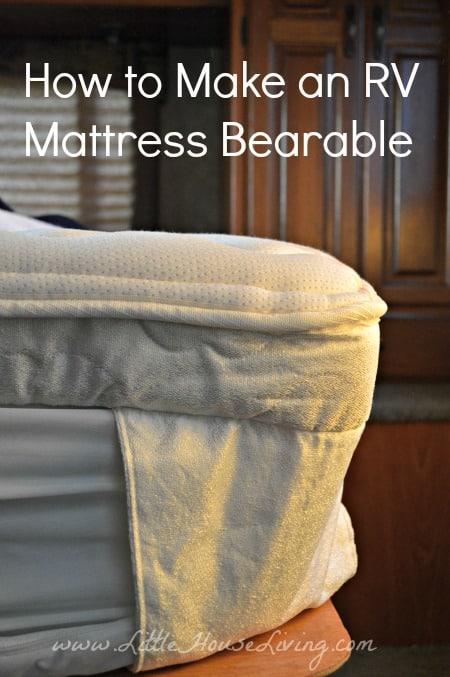How to Make an RV Mattress Bearable