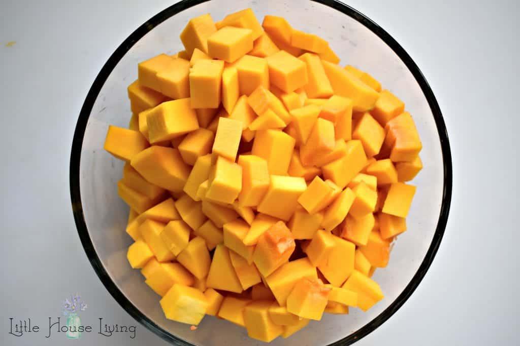 Cut Up Butternut Squash
