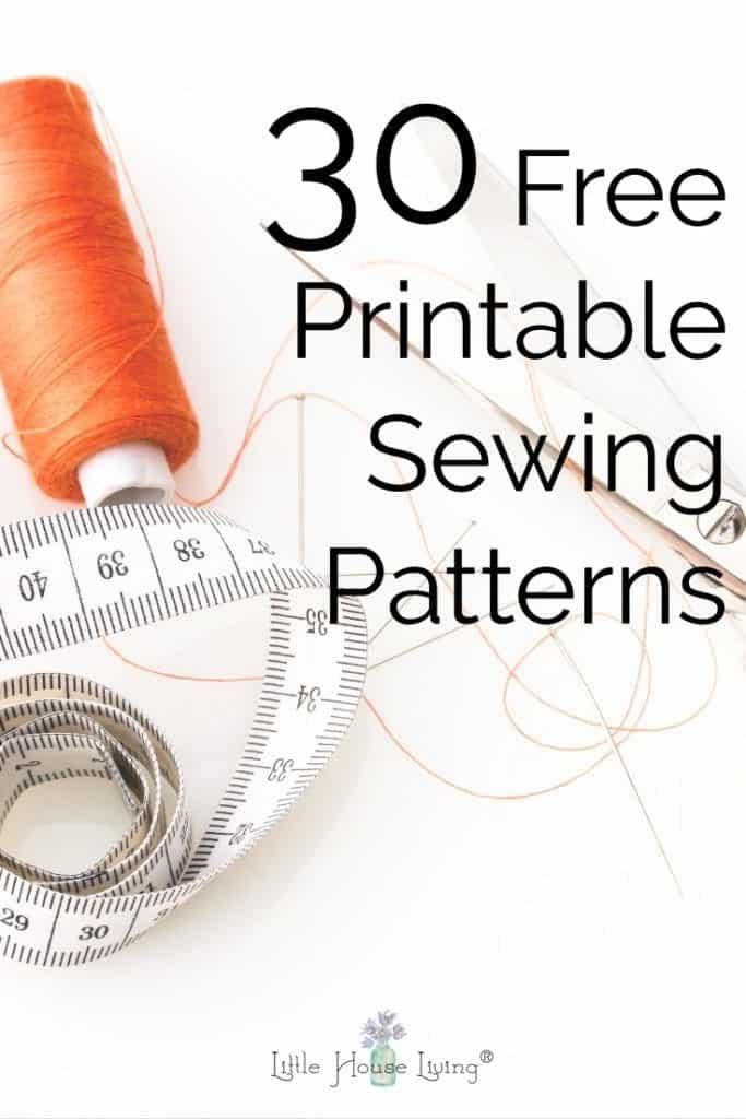 30 Free Printable Sewing Patterns
