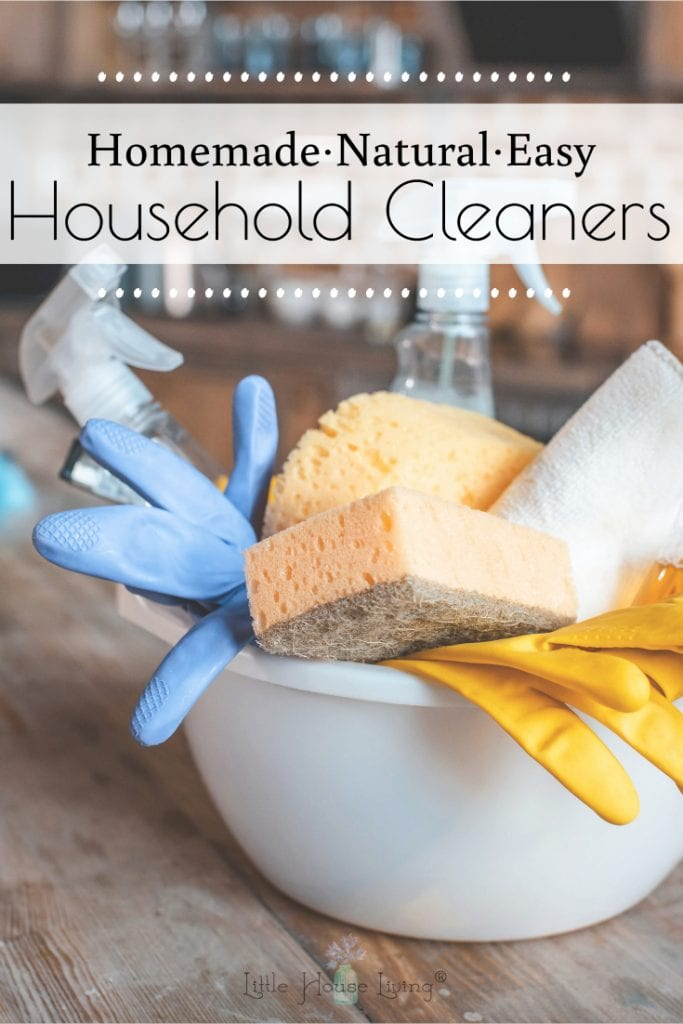Try these recipes for homemade cleaners and you'll never buy cleaning products from the store again! Here are 6 simple DIY cleaner recipes made with all-natural ingredients. #homemadecleaners #diycleaners #homemadecleaningproducts #diycleaningproducts